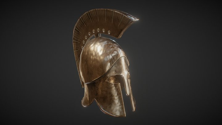 PBR Corinthian Helmet 3D Model