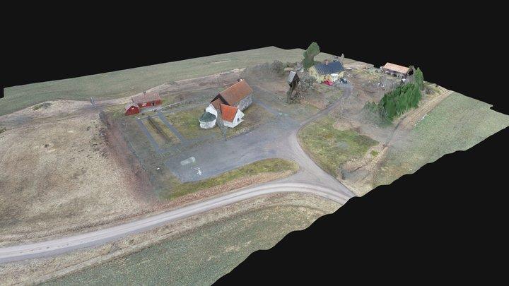 LE34 - Nykyrka Kyrkogård 3D Model