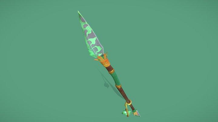 Stylized Magic Spear 3D Model