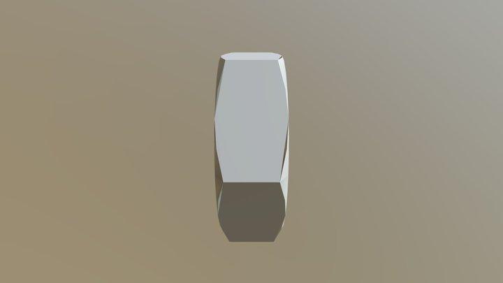 Din 439 - Thin Hexagon Nut 3D Model