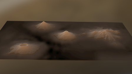 Islands of four Mountains 3D Model