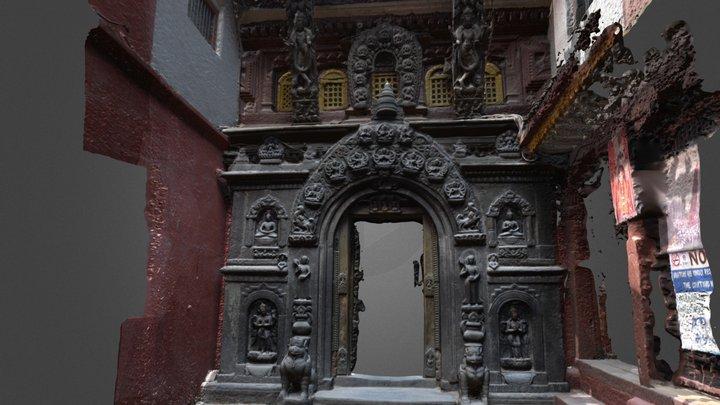 Hiranya Varna Mahavihar Entrance 3D Model