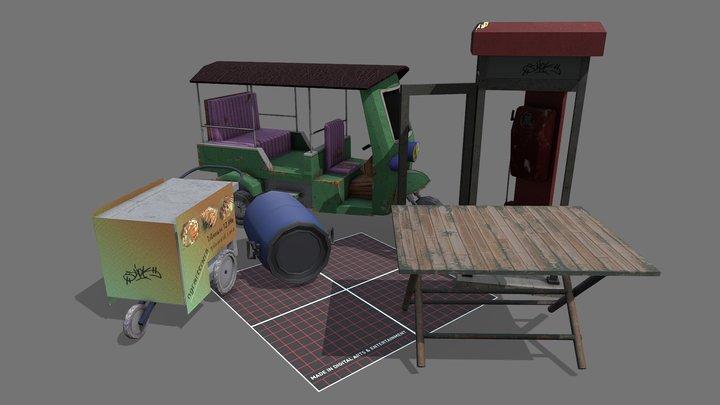 5 Props 3D Model