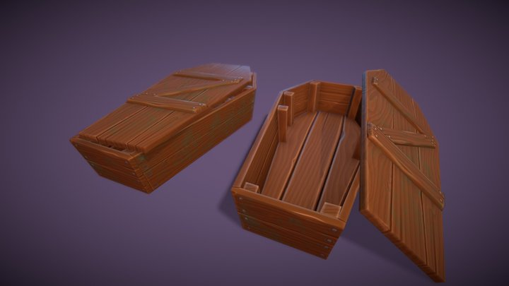 Game Ready Coffin 3D Model