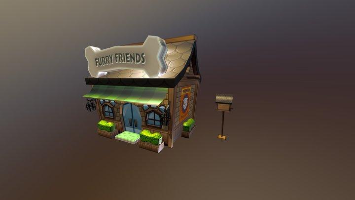 Pet Shop 3D Model