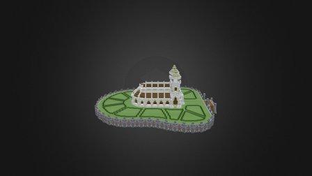 White Church 3D Model