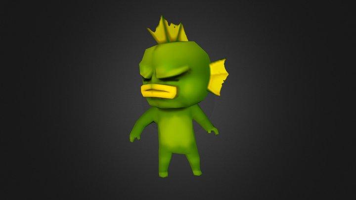 Fish_Nuclear-Throne_FanArt 3D Model