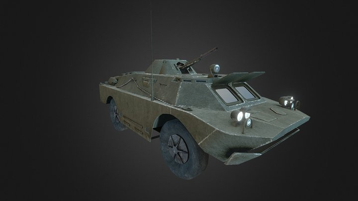 Brdm2 3D Model