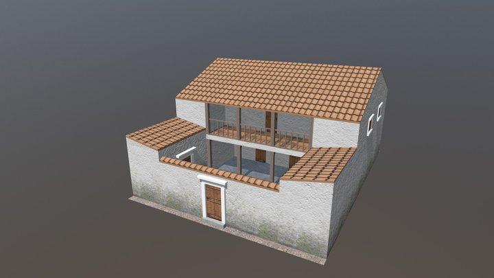 Procedurally modelled Classical Greek house 3D Model