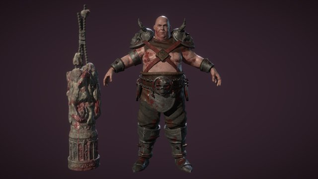 "Gaton Raiza ""The Pillar"" 3D Model"