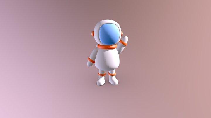 3D Cute Astronaut made in Blender 3D Model