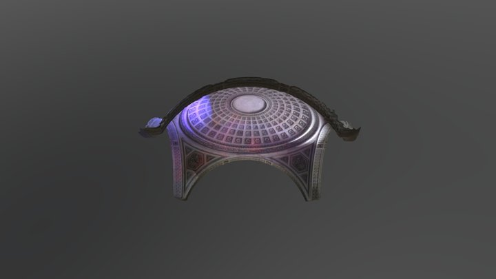 Coupole intermédaire de la nef du Panthéon 3D Model