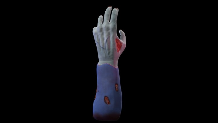 Zombie Hand 3D Model