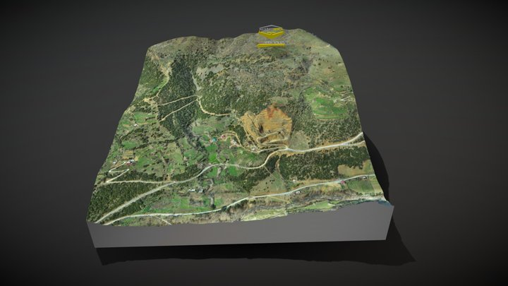 Ston Gaz Beton Quarry Model / Osmaniye-Bahçe 3D Model