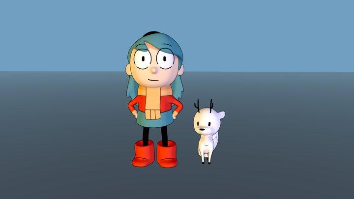 Hilda and Twig 3D Model