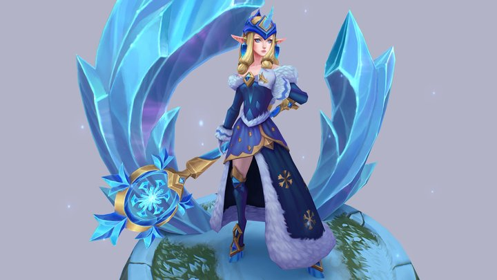 Winter Wonder Soraka 3D Model