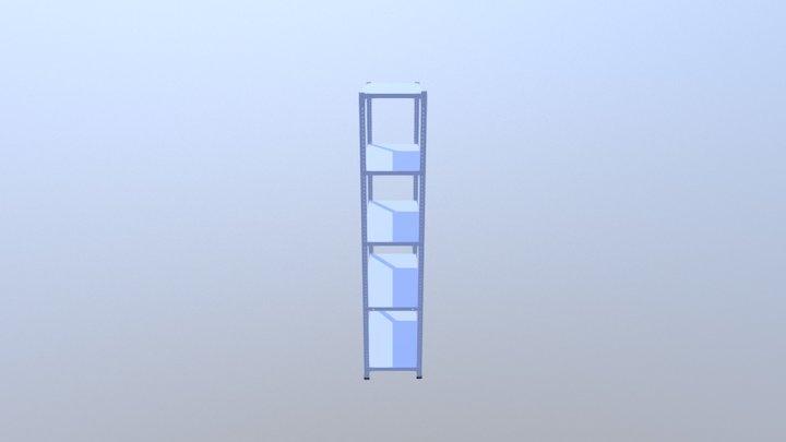 Полочный стеллаж 3D Model