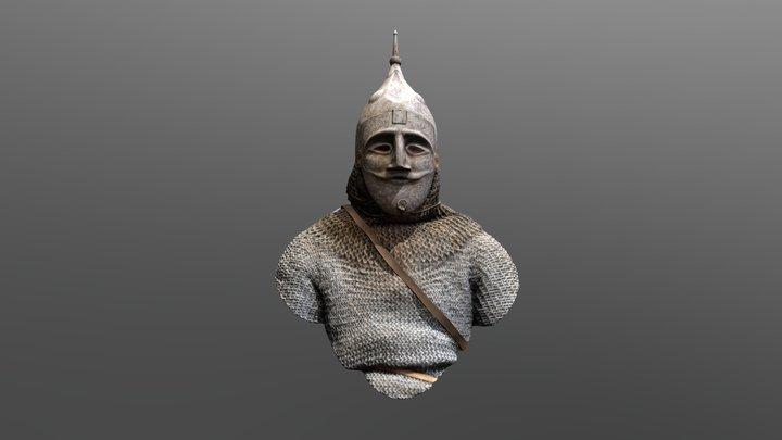 Kumánsky bojovník z 13. storočia 3D Model