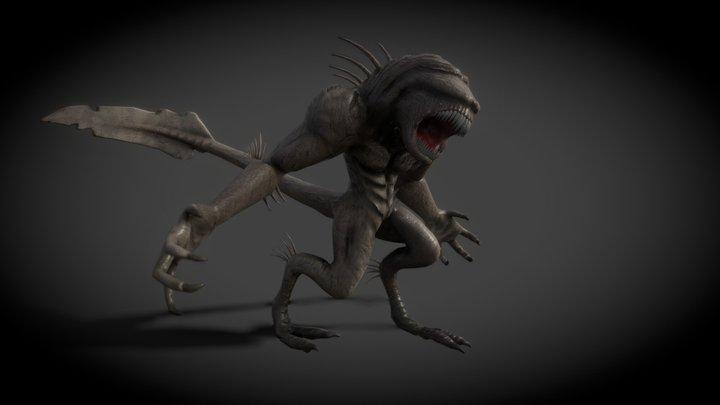 Alien monster 3D Model
