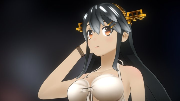 Haruna Kai-Ⅱ Bikini ver 3D Model