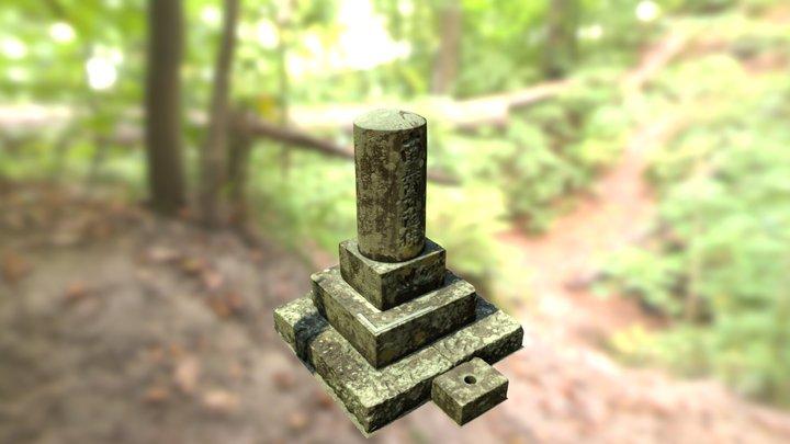 萩谷名号碑_Hagitani-Myogo-Hi 3D Model
