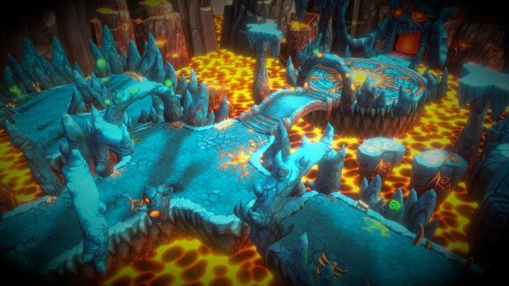 Fantasy Demon Caves 3D Model