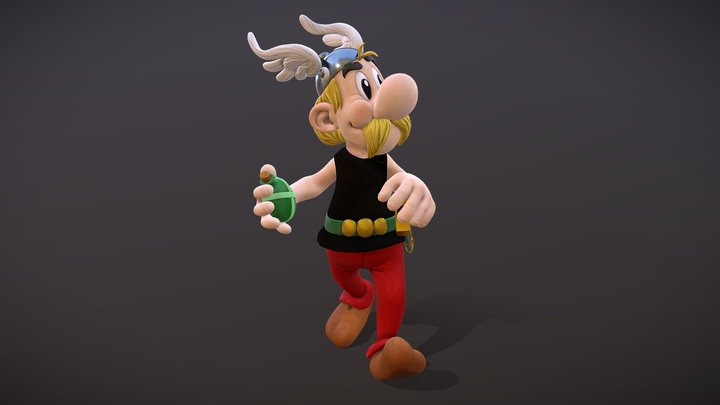 Asterix the Gaul 3D Model