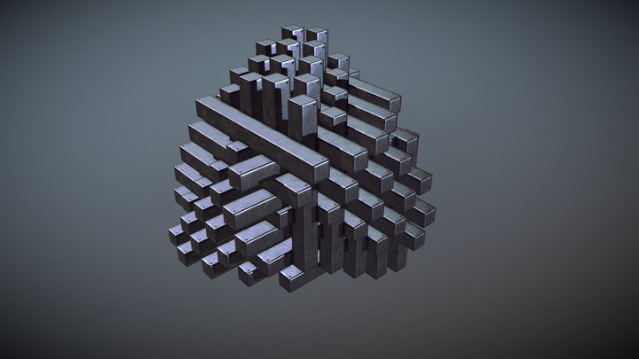 [Animation] Dissected cube 3D Model