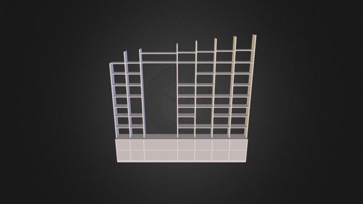 Büroregal 3D Model