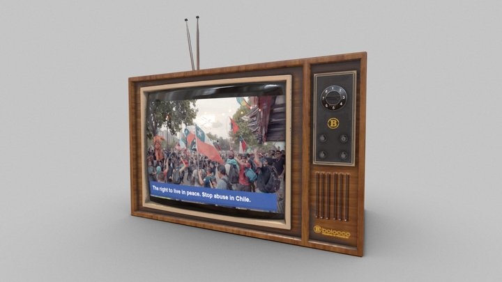 Retro TV - Stop abuse in Chile 3D Model