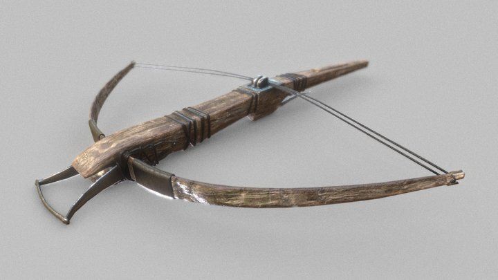 Medieval Crossbow 3D Model