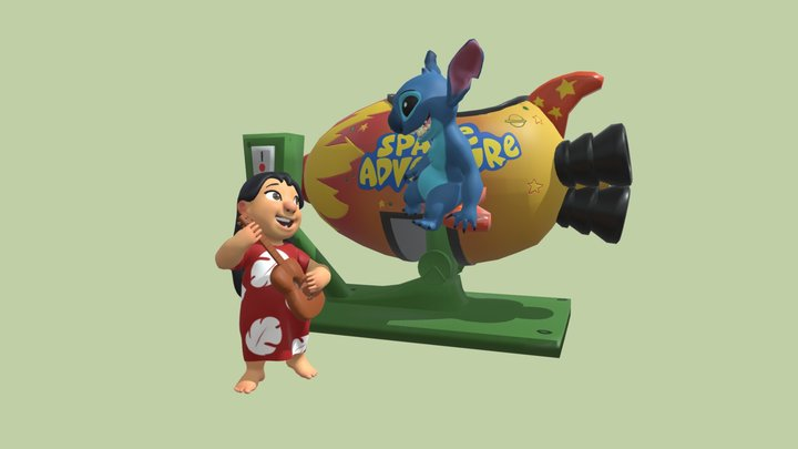 TP2 - Lilo and Stitch on the rocketship 3D Model