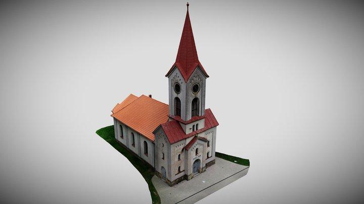 Evangelický kostel v Černilově 3D Model