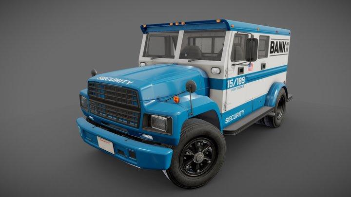 Generic american armored truck 3D Model