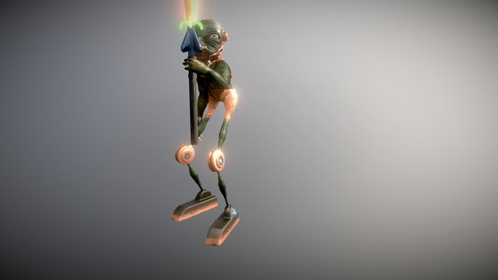 Criatura Espelmatica 3D Model