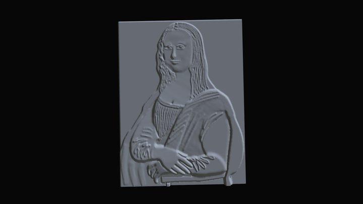 La Joconde en relief 3D Model