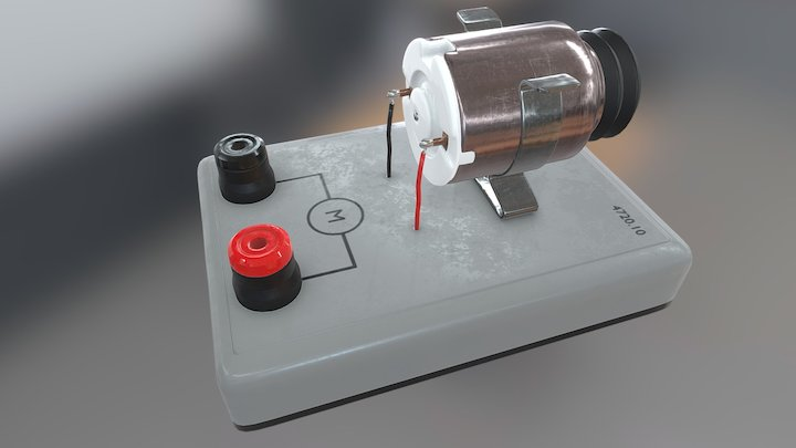 Mounted motor electrical component 3D Model
