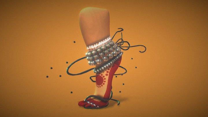 Bharatanatyam (Indian classical dance) 3D Model