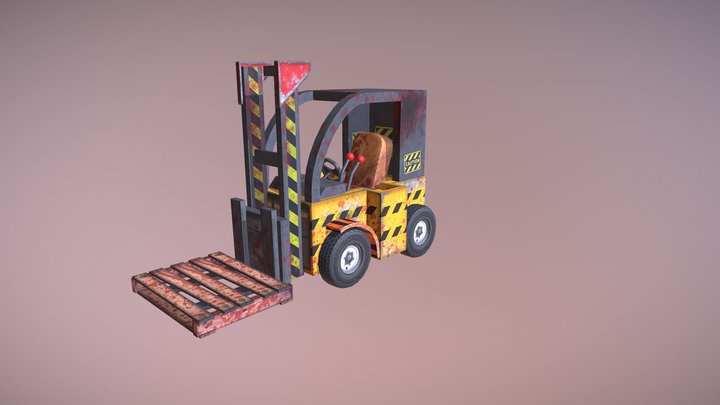 Meat Beaters Adventure: Fork Lift 3D Model