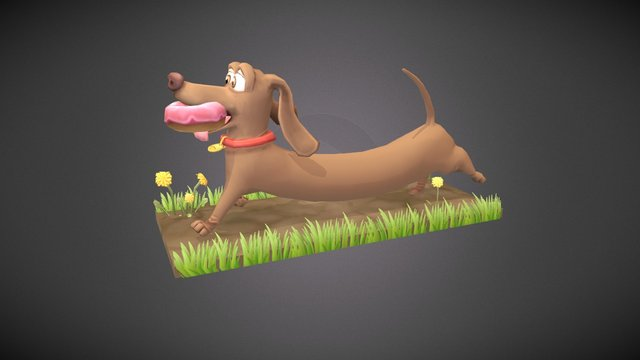 Hot Doggety- the dachshund 3D Model