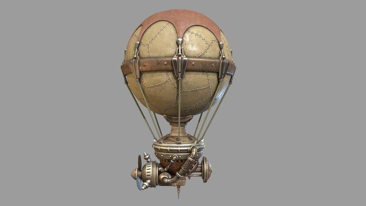 Steampunk Aerostat 3D Model