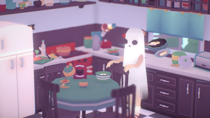 Ghost Girl In The Kitchen 3D Model