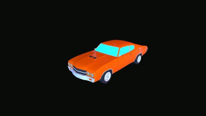 Simple Muscle Car 3D Model