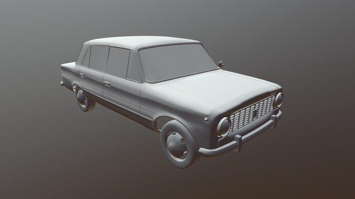 VAZ-2101 3D Model 3D Model