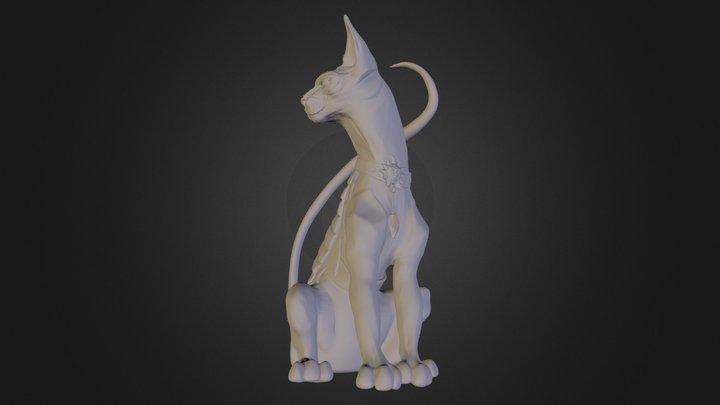 Lying Cat 3D Model