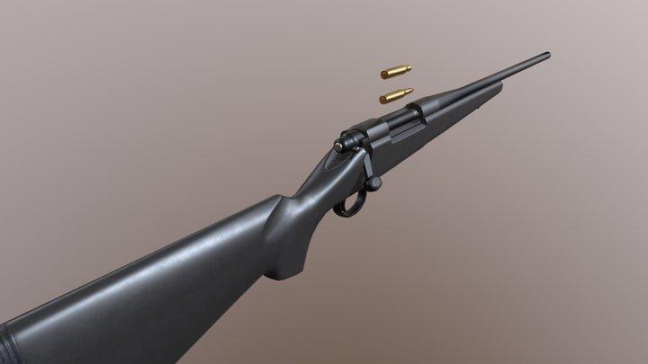M700 rifle 3D Model