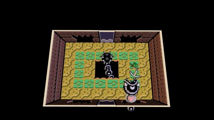 Zelda Link's Awakening Scene Boss Eel Slime 3D Model