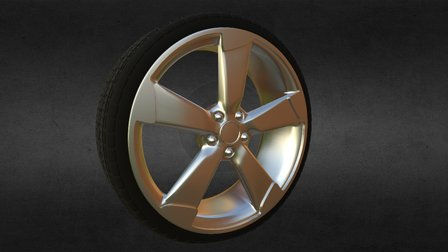 Wheel Model 3D Model