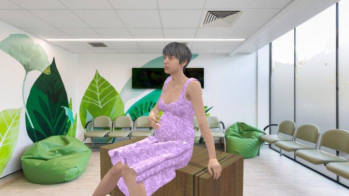pregnancywomantalk 3D Model