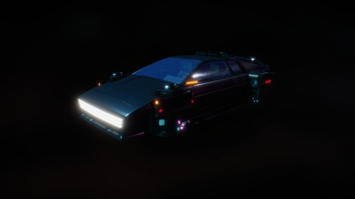 Lotus Esprit Hover GT 2076 3D Model